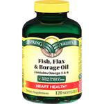 Spring Valley Fish, Flax & Borage Oil