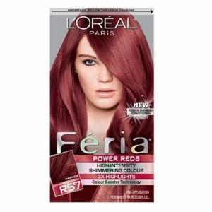L'Oreal Paris Feria Power Reds Permanent Haircolour Gel, R57 Intense Medium Auburn