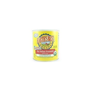 Earth's Best Organic Soy Infant Formula with Iron, ARA, & DHA, 23.2 Ounce Cans (Pack of 4)
