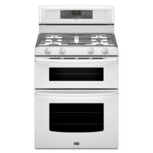Gemini 6 cu. ft. Double Oven Gas Range with Self-Cleaning Oven in White