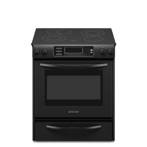 Kitchenaid KESS907SBL True Convection Oven Glass Cooktop Front Control Knobs Architect Series II