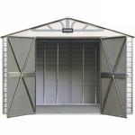 Craftsman 10-ft. x 7-ft. Vinyl-Coated Steel Shed - CVCS107 - Exclusive VersaTrack™ Compatibility