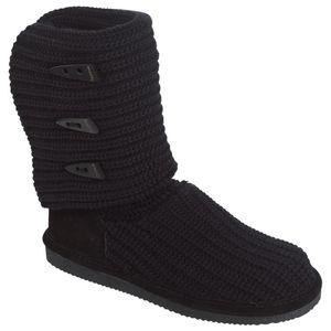 Bearpaw Women's Knit Fashion Boot - Black