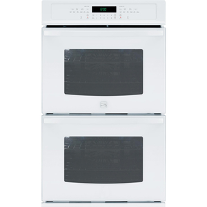 """Kenmore 30"""" Self-Clean Double Electric Wall Oven w/ Convection - White"""