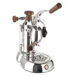 La Pavoni ESW-8 Stradavari 8-Cup Espresso Machine, Chrome with Wood Handles