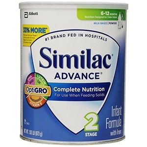 Similac Advance Infant Formula with Iron, Stage 2 Powder, 1.93 Pounds Can, Pack of 4 (Packaging May Vary)