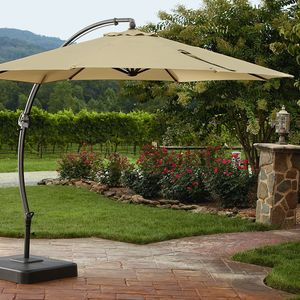 Garden Oasis 11.5 Ft. Steel Round Offset Umbrella w/Base *Limited Availability