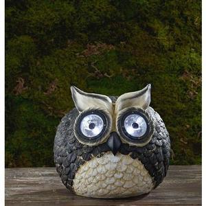 Garden Oasis Owl with Solar Spotlight Eyes