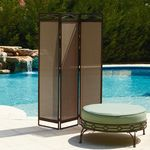 Garden Oasis Brown Sling 3 Panel Screen*