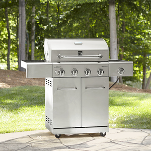 Kenmore 4 Burner All Stainless Steel Gas Grill with searing side burner