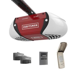 Craftsman ½ HP Chain Drive Garage Door Opener with two Multi-Function Remotes and Keypad
