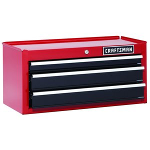 Craftsman 26 in. 3-Drawer Heavy-Duty Ball Bearing Middle Chest - Red/Black
