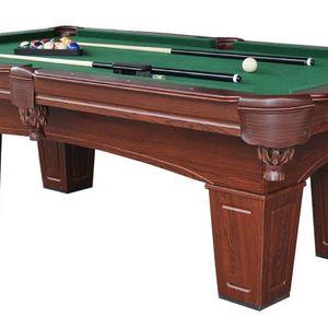 MD Sports 8ft Brenham Billiard Table w/ BONUS Table Tennis Top
