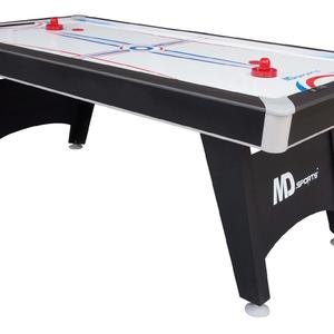 MD Sports Tournament Cup 7 ft. Air Hockey Table with Bonus Table Tennis Top