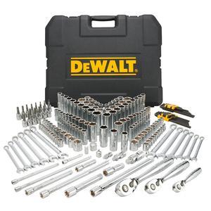 DeWalt 204 Piece Mechanics Tool Set; 1/4, 3/8, & 1/2-inch Drive