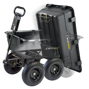 Tricam Gorilla Carts GOR866D Heavy-Duty Garden Poly Dump Cart, Black Finish