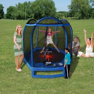 Sportspower 7 ft (84 in) Trampoline with (3) Door-Shaped Enclosure with Flash Light Zone