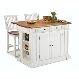 Home Styles Kitchen Island with Two Stools