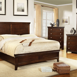 Furniture of America Ariege Transitional Platform Bed - Queen Size