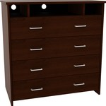 Dorel Home Furnishings Black TV Media Stand and Dresser