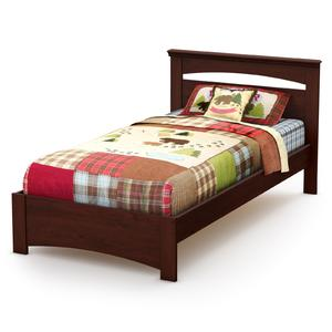 """South Shore Sweet Morning Twin Bed Set 39"""" Royal Cherry"""