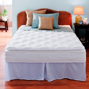 Night Therapy 10 Inch Pillow Top Spring Complete Mattress Set-Twin