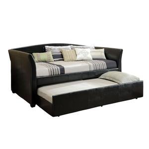 Venetian Worldwide Delmar Twin Size Day Bed in Black W/ Twin Trundle
