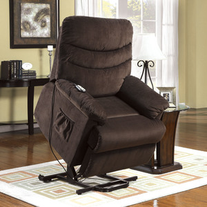Furniture of America Grandby Cocoa Brown Power Lift Recliner