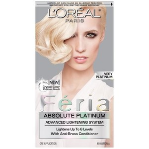 L'Oreal Paris Feria Absolute Platinum Advanced Lightening System, Very Platinum