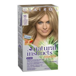 Clairol Natural Instincts Vibrant Permanent Hair Color 9A, Alive with Light, Light Cool Blonde 1 Kit