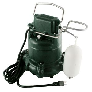 Zoeller Sump Pump, 1/3 HP