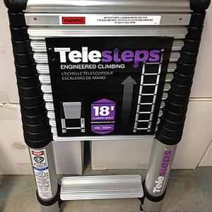 """Telesteps 1800EP 14.5 Foot Professional Use Telecopic Ladder, """"Type 1A"""" 300 lbs Rated"""