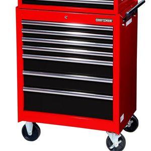 "Craftsman 27"" 7-Drawer STD DUTY Ball Bearing Slides Roller Cabinet Red&Black"