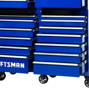"""Craftsman 54"""" 13-Drawer PRO Cabinet with integrated Latch system Blue"""