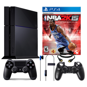 Sony PS4 500GB Bundle with NBA 2k15 & Silicone Sleeve