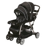 Graco Ready2Grow Classic Connect LX Double Stroller, in Metropolis