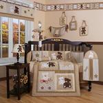 GEENNY Teddy Bear 13PCS Crib Bedding Set
