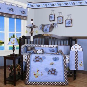 GEENNY Sea Turtle 13PCS Crib Bedding Set