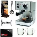 Capresso EC PRO 118.05 Professional Espresso & Cappuccino Machine with Grand Aroma Whole Bean Coffee (8.8oz),Espresso, Coffee Measure, ESPRESSO TAMPER (CD) with Two Coffee Mugs + $15 Focus Gift Card