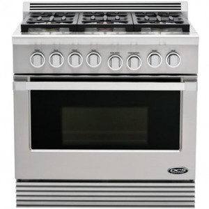 DCS Professional RGU-366-N 36 Pro-Style Gas Range, 6 Sealed Burners, Convection Oven, NG