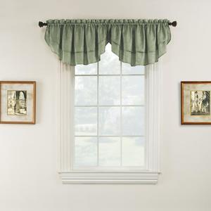 Essential Home Luxury Window Valance - Sage