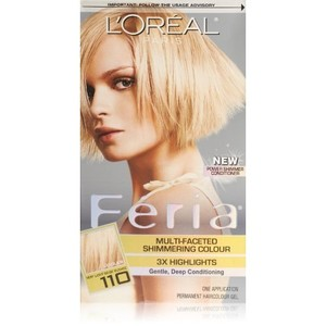 L'Oreal Paris Feria Starlet Multi-Faceted Shimmering Color, Very Light beige Blonde, 110
