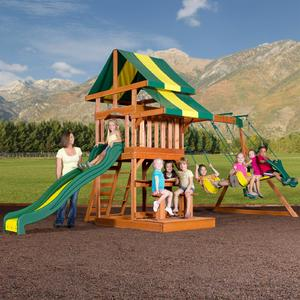 Backyard Discovery Independence Cedar Swing Set - Free Delivery!