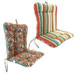 Jordan Manufacturing Co., Inc. Ethan/Wyken Stripe Scarlet Euro Chair Cushion