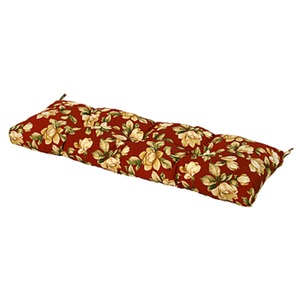 """Greendale Home Fashions 51"""" Outdoor Bench Cushion, Roma Floral"""