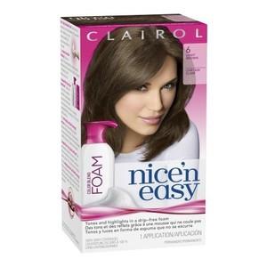 Clairol Nice 'N Easy Color Blend Foam Hair Color 6 Light Brown 1 Kit