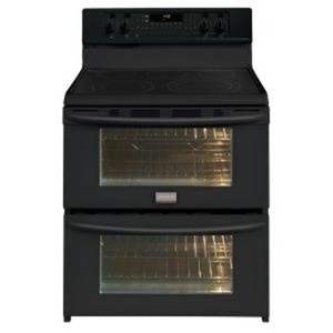 Gallery 30 in. 7.0 cu. ft. Double Oven Electric Range with Self-Cleaning Convection Oven in Black
