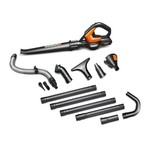 WORX WO7009 Cordless Air Blower/Sweeper/Cleaner Combo Gutter Kit with 20-volt Lithium Battery