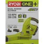 Ryobi P2170 ONE+ 150 mph 200 CFM 18-Volt Lithium-Ion Hybrid Cordless or Corded Blower/Sweeper (New in Retail Packaing)