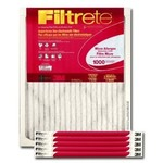 "3m Air Filter Electrostatic, Micro Allergen 15 "" X 20 "" X 1 "" Pleated 1000 Mpr Merv 11"